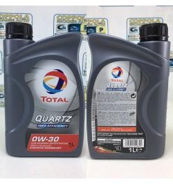 OLIO TOTAL QUARTZ INEO EFFICIENCY 0W-30 ACEA C2 E C3 BMW LL 04 OFFERTA 1 LITRO